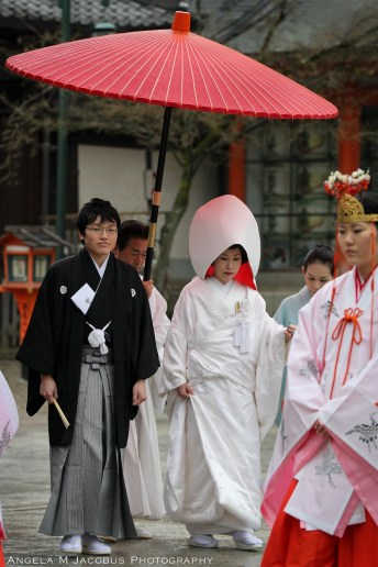Wandering around Kyoto and happened upon a traditional wedding.